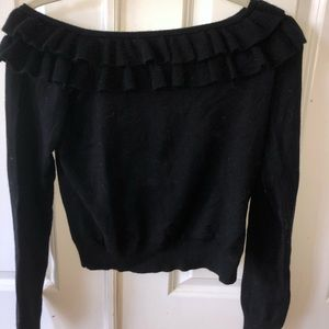 Forever 21 ruffled off should long sleeve